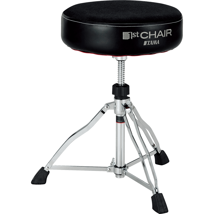 Tama HT430GYC 1st Chair Round Rider Drum Throne Featuring Gray Cloth Top Seat