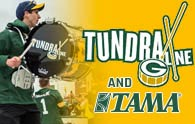 Tundra Line and TAMA Warming Up the Fans at Lambeau Field