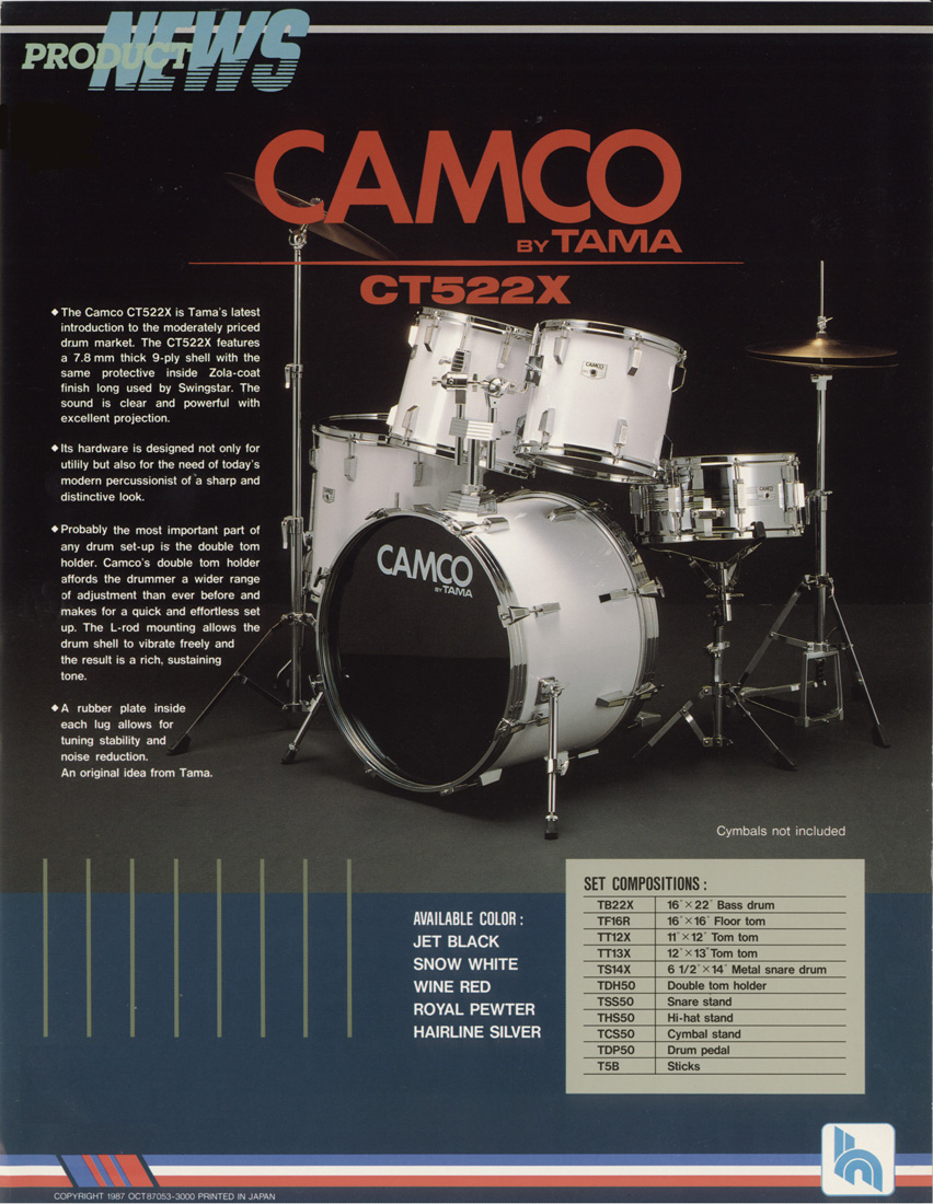 Tama Drums 1987 Camco Drum