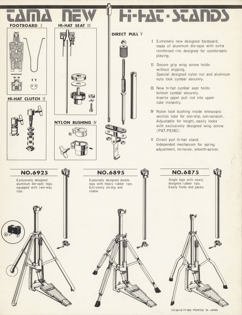 1977 Hi-Hat Stands