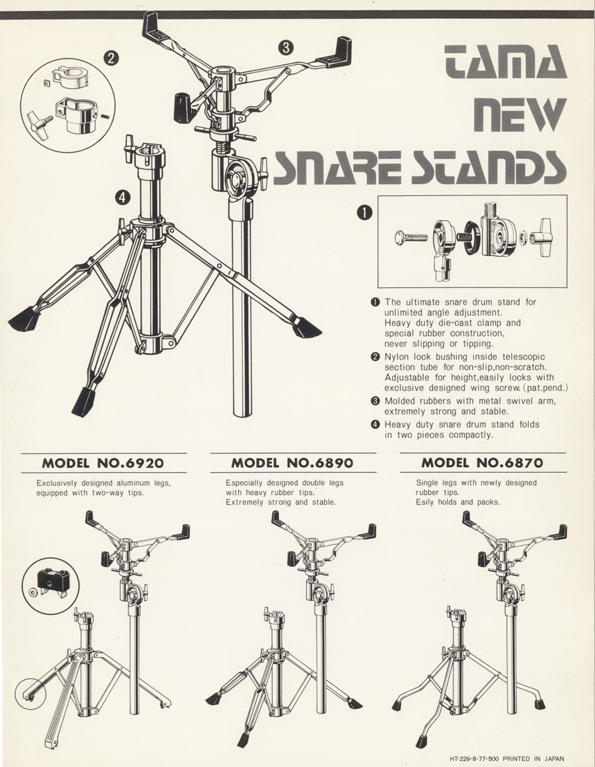 1977 Snare Stands