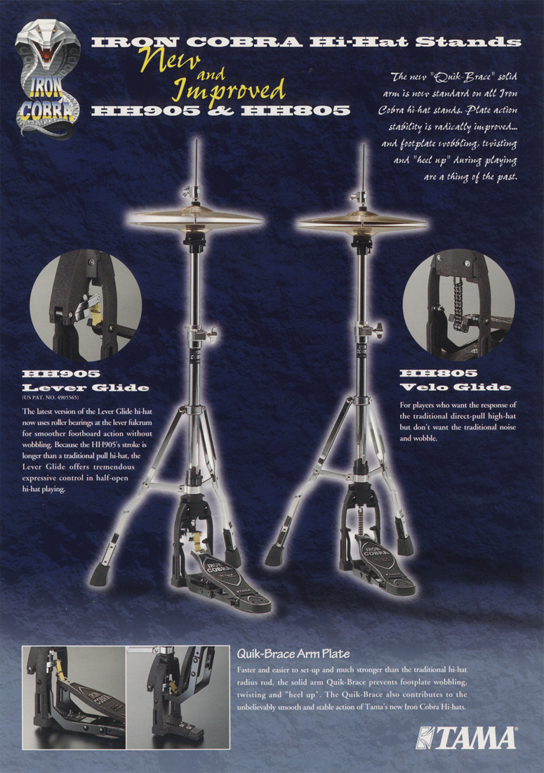 1998 Iron Cobra Hi-Hat Stands